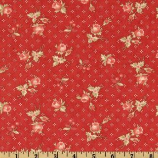 44'' Wide Moda Bar Harbor Cottage Rose Red Fabric By The Yard