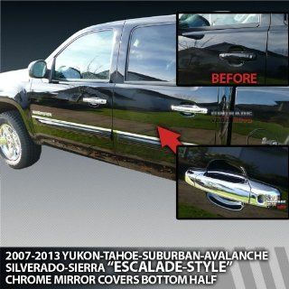 2007 2013 GMC Sierra & HD 4dr Crew Cab, Extended Cab Chrome Door Handle Covers Automotive