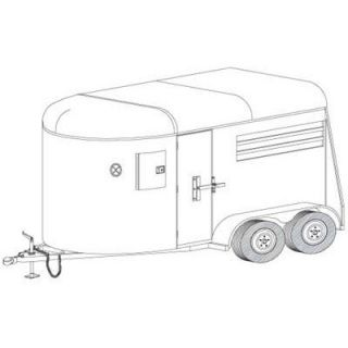 Trailer Blueprints — 12Ft. Two-Horse Trailer  Trailer Blueprints