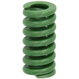 "Die Spring, Extra Heavy Duty, Closed & Ground Ends, Green, 1.25"" Hole Diameter, 0.625"" Rod Diameter, 2.5"" Free Length, 1525lbs Spring Rate (Pack of 10) Compression Springs"