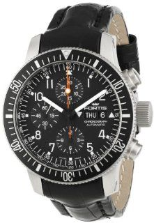 Fortis Men's 638.10.11 LC B 42 Official Cosmonauts Black Automatic Chronograph Date Watch at  Men's Watch store.