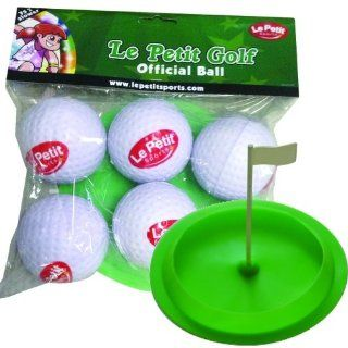 Le Petit Sports   Golf Soft Oversized Foam & Rubber Balls   Pack 6   with Flag Cup Target (2.5 inch   Low flight   Safe play) Sports & Outdoors