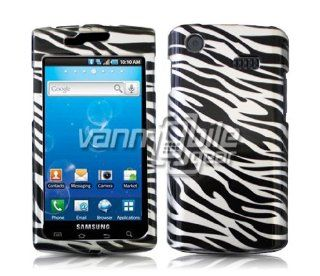 VMG Silver/Black Zebra Design Hard 2 Pc Plastic Snap On Case for Samsung Capt Cell Phones & Accessories
