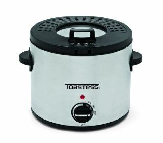 Toastess TDF639 Compact Round Deep Fryer, Stainless Steel Kitchen & Dining