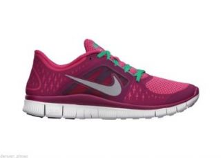 New Womens Nike Free Run 3 Shoes 510643 644 Pink Force Sz 5 Shoes