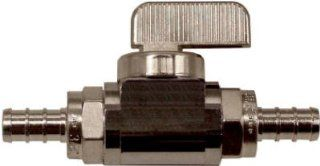 Watts Brass & Tubular P 653 Brass Barb Ball Stop Valve, 3/8 x 3/8 In.   Quantity 5   Pipe Fittings