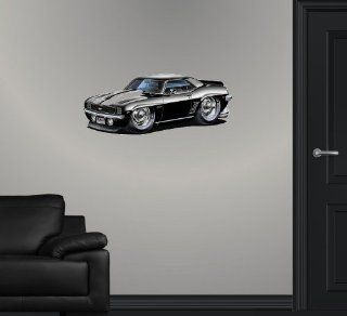 "24"" 1969 Chevrolet Chevy Camaro SS classic muscle sports car cartoon Wall Graphic Sticker Decal Home Kids Room Man Cave Garage window art Decor NEW"