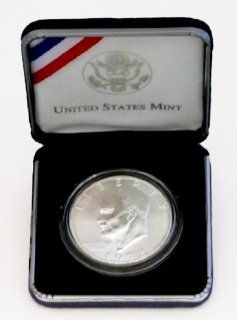 Military First Salute Silver Dollar Coin (Eisenhower Silver Dollar) in Official US Mint Box & Capsule