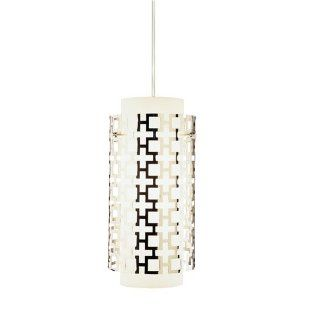 Robert Abbey S663 Mini Pendants with Frosted White Glass and Perforated Metal Outer Shades, Polished Nickel Finish   Ceiling Pendant Fixtures