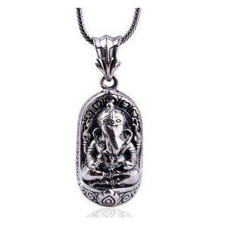 Thailand Buddhism Retro Elephant God 925 Sterling Silver Thai Silver 100% Pendant Necklace Jewelry