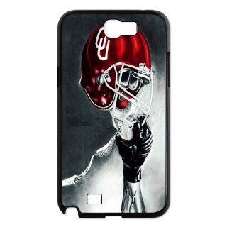 PDIYcover Custom DIY Design 13 Sports NCAA Oklahoma Sooners Football Logo Black Print Hard Shell Cover Case for Samsung Galaxy Note 2 N7100 Cell Phones & Accessories