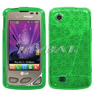 LG Chocolate Touch vx8575 Dr Green Snowflake Candy Skin Cover Silicone/Gel/Soft/Cover/Case Cell Phones & Accessories