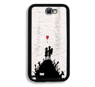 Banksy Graffiti Boy Girl Red Balloon Samsung Galaxy Note 2 Note II N7100 Case   Fits Samsung Galaxy Note 2 Note II N7100 Cell Phones & Accessories