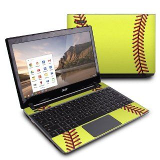 Softball Design Protective Decal Skin Sticker (High Gloss Coating) for Acer C7 C710 2847 Chromebook Computers & Accessories