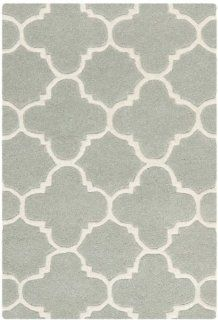 Safavieh CHT717E Chatham Collection Wool Area Rug, 2 Feet by 3 Feet, Grey/Ivory