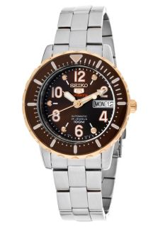 Seiko SRP200  Watches,Womens Seiko 5 Sports Automatic Brown Dial Stainless Steel, Casual Seiko Automatic Watches