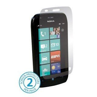 Nokia Lumia 710 Cell Phone HD Anti Glare Clear Transparent Screen Shield Guard Cover   INCLUDES 2 PROTECTORS Cell Phones & Accessories