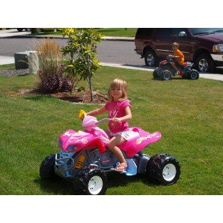 Fisher Price Power Wheels Girls' Barbie KFX ATV Toys & Games