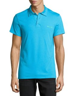 Stretch Jersey Polo Shirt, Blue