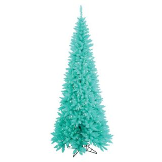 Vickerman 9 Aqua Slim Fir Artificial Christmas Tree with 700 Mini