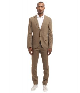 Bikkembergs Linen Regular Fit Suit Mens Suits Sets (Beige)
