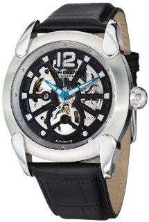 Stuhrling Original Men's 725.01 Gen X Axial Automatic Skeleton Stainless Steel Black Dial Watch Watches