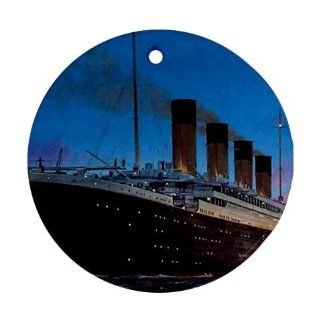 Titanic Ornament round porcelain Christmas Great Gift Idea