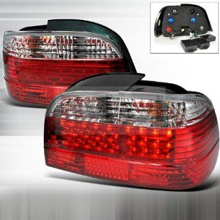 BMW E38 7 Series 750iL 740iL 740i 1995 1996 1997 1998 1999 2000 2001 Fiber Optic LED Tail Lights   Clear Red Automotive