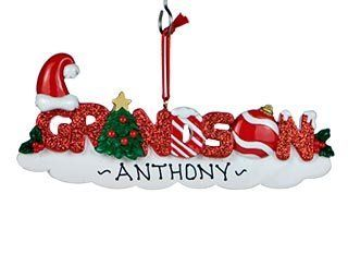 Personalized Grandson Letters Christmas Ornament   Decorative Hanging Ornaments