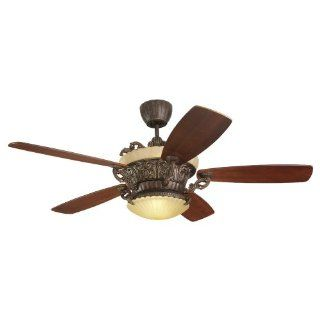 Monte Carlo 5SBR56TBD L Strasburg 56 Inch 5 Blade Ceiling Fan with Remote, Tuscan Bronze Finish