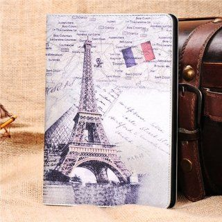 Retro Eiffel Tower Folio PU Leather Stand Smart Cover Case for iPad Mini Computers & Accessories