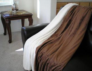 Super Soft Queen Faux Fur / Micro Fiber Blanket / Bedspread / Throw   Brown   Bed Throws