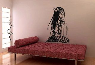 Wall Decor Vinyl Decal Sticker Anime Girl Dragon Tattoo on Back Tz830
