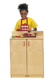 Jonti Craft School Age Pretend Preschool Daycare Kids Wooden Toy Kitchen Sink Cabinet Play Set Birch Toys & Games