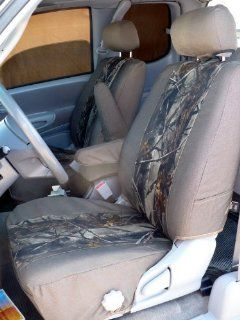 Exact Seat Covers, T785 D3/XD3, Custom Exact Fit Seat Covers For 1999 2004 Tundra Access Cab Front Bucket Seats with Manual Controls, Tan Twill with XD3 Camo Inserts Automotive