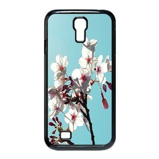 Custom Cherry Blossoms Cover Case for Samsung Galaxy S4 I9500 LS4 88 Cell Phones & Accessories