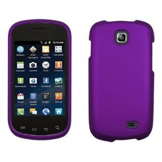 iFase Brand Samsung Galaxy Appeal I827 Cell Phone Rubber Purple Protective Case Faceplate Cover Cell Phones & Accessories