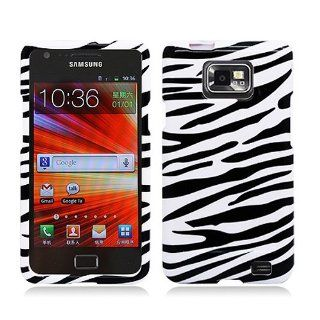 Black White Zebra Stripe Hard Cover Case for Samsung Galaxy S2 S II AT&T i777 SGH i777 Attain i9100 Cell Phones & Accessories
