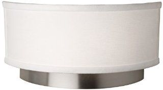 Artcraft Lighting SC787 Scandia Wall Sconce Light, Brushed Nickel with White Linen Shade