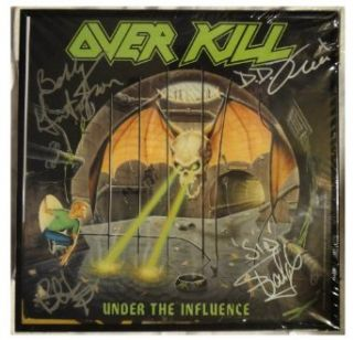 Signed Overkill Autographed Over Kill Lp Record Album Flat Framed Entertainment Collectibles