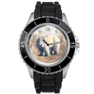 Polar Bear Unisex design watch with silicone band at  Men's Watch store.