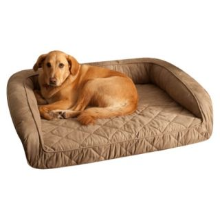 Buddy Beds Memory Foam Bolster Dog Bed  Taupe (L