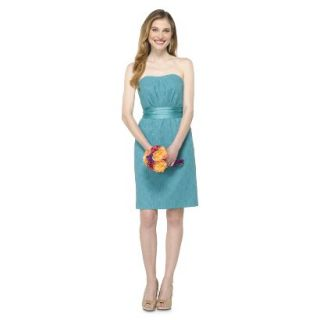 TEVOLIO Womens Lace Strapless Dress   Blue Ocean   12