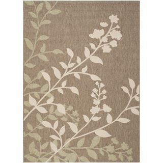 Safavieh Indoor/ Outdoor Courtyard Brown/ Beige Rug (67 X 96)