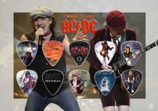 AC/DC ACDC Signed Autographed 500 Limited Edition Guitar Pick Set Display
