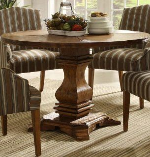 Homelegance Euro Casual Round Pedestal Dining Table In Rustic Weathered Kitchen Kitchen & Dining