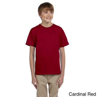 Gildan Gildan Youth Ultra Cotton 6 ounce T shirt Red Size L (14 16)