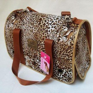 Exotic Leopard Printed Dog Carrying Bag Travel Bag for Pets Fashion Size Small  Soft Sided Pet Carriers