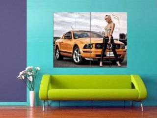 XH0440 Fantastic Ford Mustang Shelby Car Sexy Girl Model HUGE POSTER Print