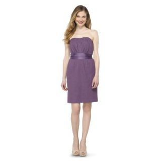 TEVOLIO Womens Lace Strapless Dress   Plum Spice   10